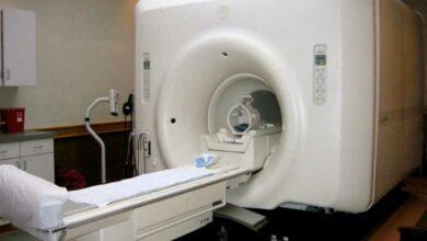 Photo of Man left unattended inside MRI machine; probe on