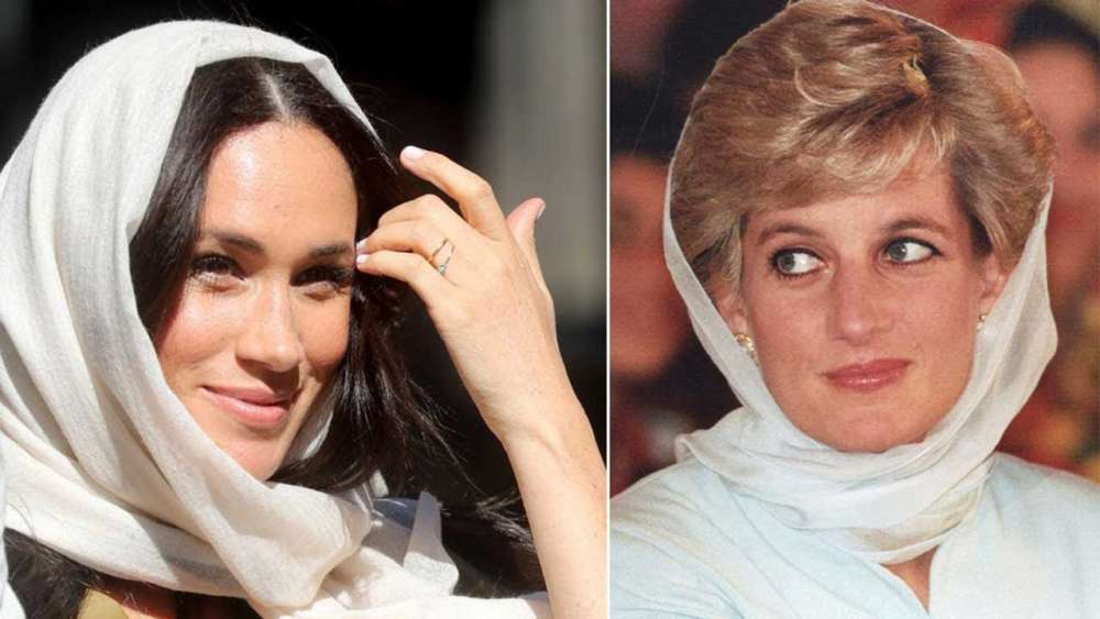 Donning a headscarf, Meghan reminds of Princess Diana