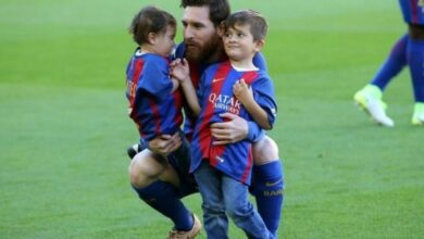 Photo of Messi's son converts a penalty, celebrates like his father
