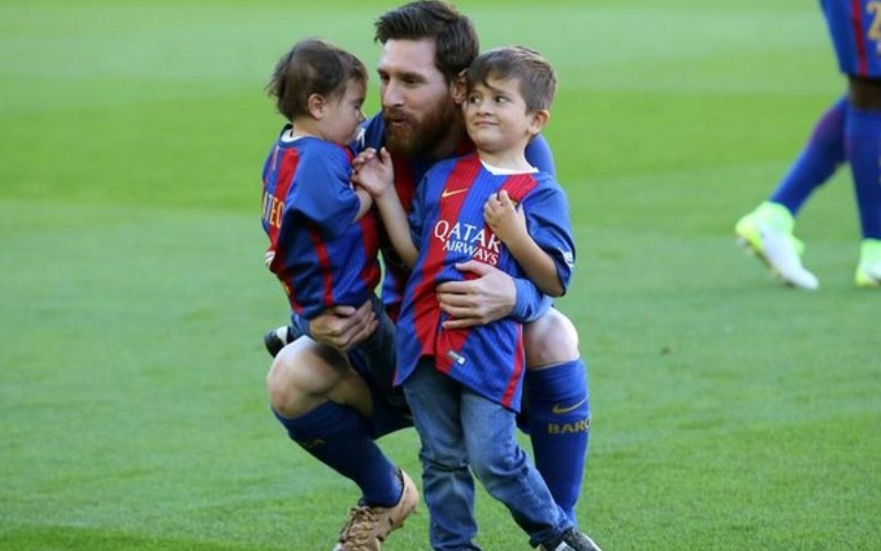 Messi's son converts a penalty, celebrates like his father