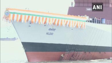Photo of Rajnath launches warship Nilgiri in Mumbai
