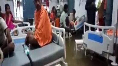 Photo of Rainwater seeps into Nalanda Medical College and hospital