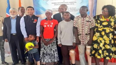 Photo of Indian Mission to provide free artificial limbs at health camp in Namibia