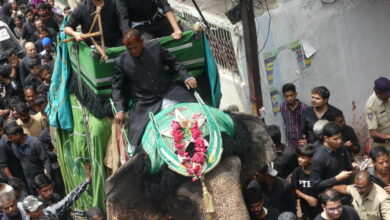 Photo of Bibi Ka Alam procession in Hyderabad