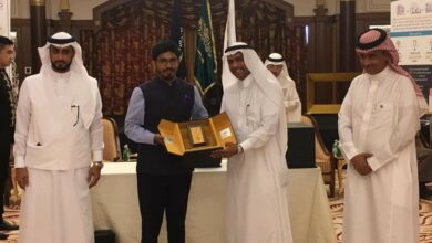 Photo of Consul General of India felicitated at Jeddah