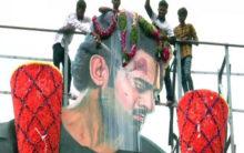 Prabhas fan climbs cellphone tower, demands to meet him