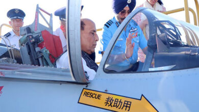 Photo of Rajnath visits Hamamatsu Air Base, briefed on F-15 fighter jets