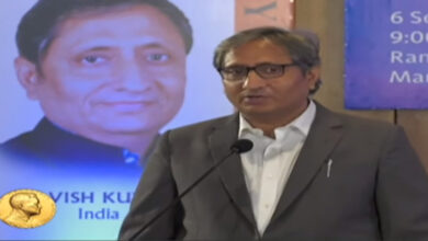 Photo of Listen to pure 'Hindiwala' Ravish's Magsaysay speech in English