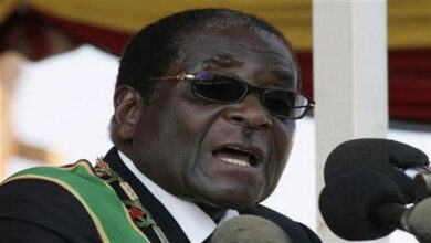 Photo of Zimbabwe's ex-president Mugabe buried in rural village