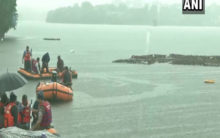 SDERF personnel carry out rescue operation at Khatlapura Ghat