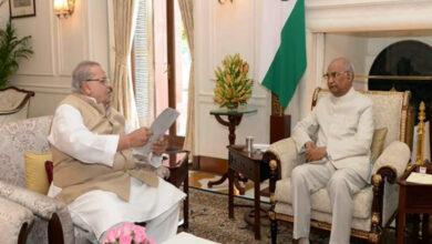 Photo of J-K Governor Satya Pal Malik calls on President Ram Nath Kovind