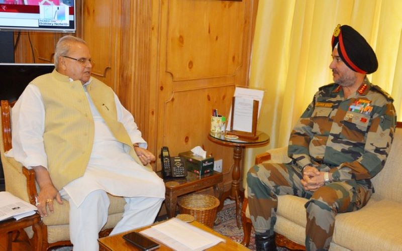 Northern Army Commander, J-K Governor discuss security situation