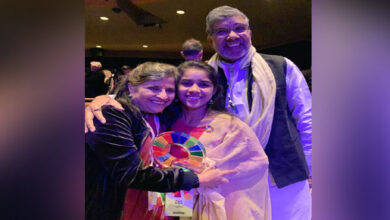 Photo of Rajasthan teen receives Changemaker Award in the US