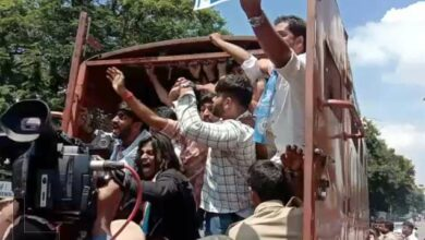 Photo of NSUI Students hold protest infront of Telangana Assembly