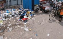 Old Charminar bus stand turns into the garbage dump