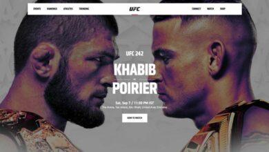 Khabib vs Poirier UFC242