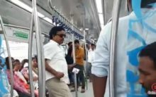 Ex-AP MP's kin held for nuisance on Hyderabad Metro Rail