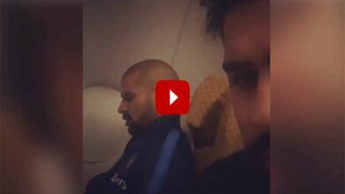 Photo of Rohit secretly films Shikhar Dhawan talking to himself in flight