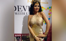 Boney, Janhvi, Khushi unveil Sridevi's wax figure at Madame