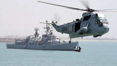 Photo of Indian Navy helicopter finds no bodies or debris
