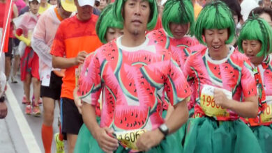 Photo of Japan organizes watermelon road race
