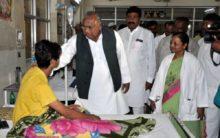 Congress leader Hanumanth Rao visits Fever hospital