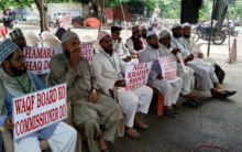All India Sufi Ulema council protest at Dharna Chowk