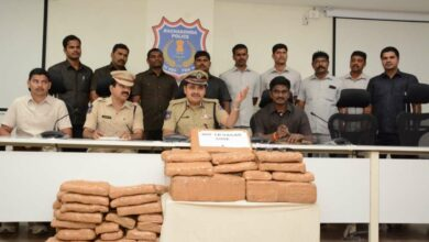 Photo of Ganja smuggling racket busted, six held in Hyderabad