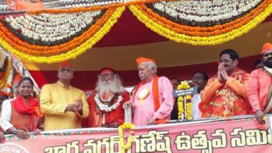 Photo of RSS chief Mohan Bhagwat Speech at MJ Market | Hyderabad