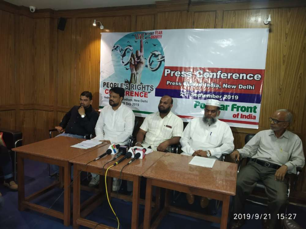 Pfi Hold People U2019s Rights Conference In New Delhi