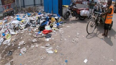 Photo of Old Charminar bus stand stinks; turned into a garbage dump