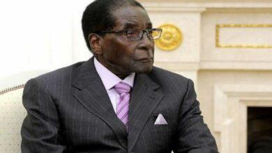 Photo of Zimbabwe's former strongman Robert Mugabe buried in hometown
