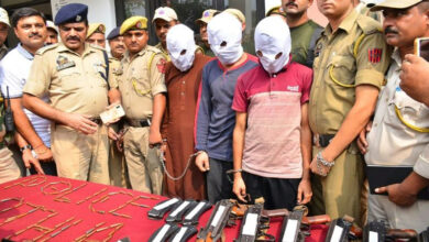 Photo of Indian police intercept weapons 'headed for Kashmir'