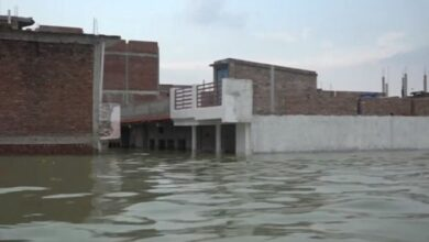 Photo of Prayagraj: Several houses partially submerged in floodwater