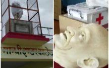 Gandhi statue vandalised in college by unidentified miscreants