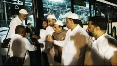 Photo of First batch of Haj pilgrims arrive at Shamshabad Airport