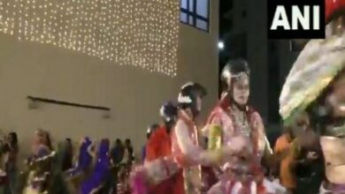 Photo of Dance group performs Garba wearing helmets to create road safety awareness
