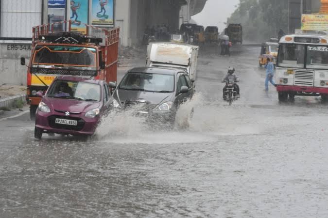 Wednesday rainfall did not break 100 year Hyderabad record