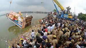 Photo of Giant sized Khairatabad Ganesh immersion to be finished by 2 pm