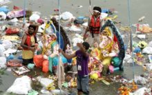 Post Ganesh immersion: Hyderabad carpeted with 8K MTs of garbage