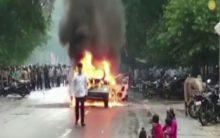 Man sets own car ablaze for this reason