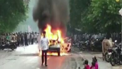 Photo of Man sets own car ablaze for this reason