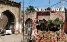Structure of Golconda Fort's Moti Darwaza collapsed