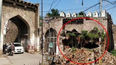 Photo of Structure of Golconda Fort's Moti Darwaza collapsed