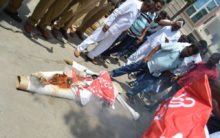 TS Christian JAC protests, burns effigy of nominated MLA Elvis