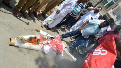 Photo of TS Christian JAC protests, burns effigy of nominated MLA Elvis