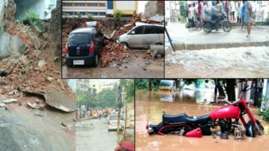 Photo of Hyderabad: 200 houses submerged in water after wall collapsed