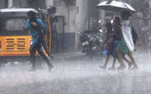 Heavy rainfall in Hyderabad on Monday