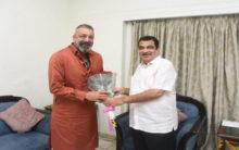 Sanjay Dutt pays courtesy visit to Union Minister Nitin Gadkari