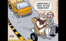 Cartoon on Economy, Saffron Lungi